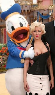 Exact christina aguilera donald duck