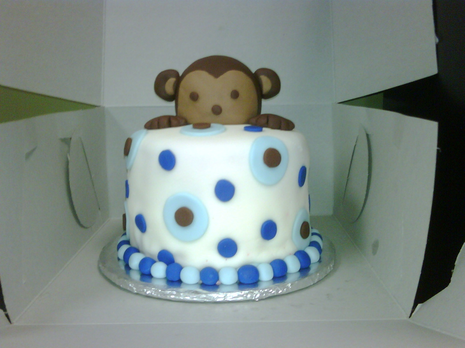 cake pops truffles llc mod monkey cake topper for baby shower