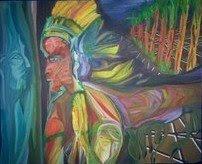 Reflejo del árbol nativo