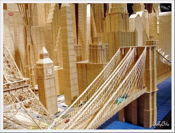 Toothpick+Art+%283%29 Bangunan Yang Diperbuat Daripada Pencungkil Gigi
