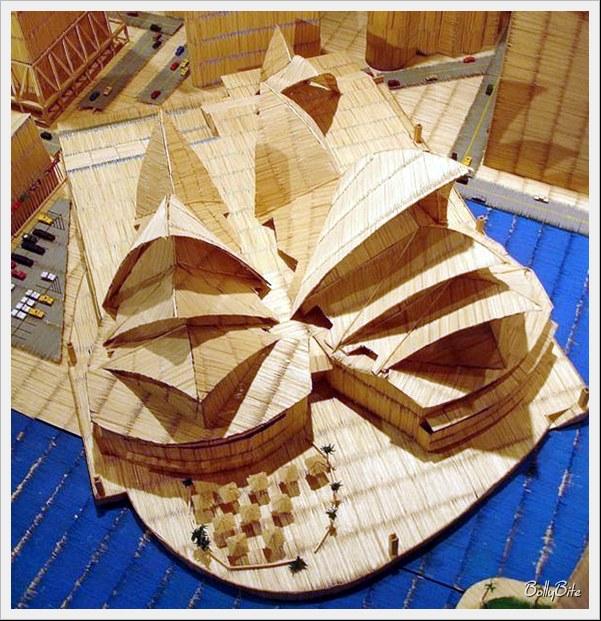 Toothpick+Art+%2813%29 Bangunan Yang Diperbuat Daripada Pencungkil Gigi