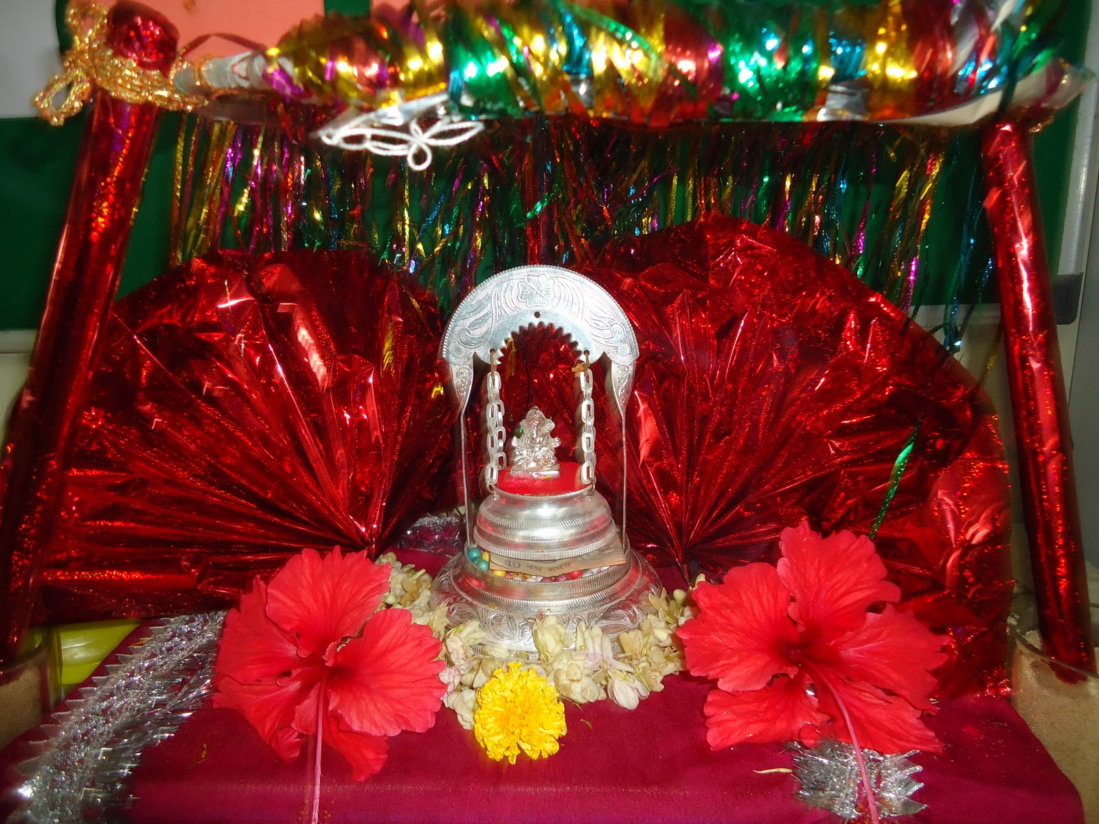 Ganpati celebration at school for Background decoration for ganpati