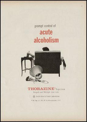 promt control of acute alcoholism - Thorazine