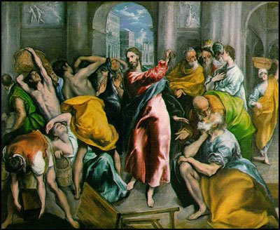 Cristo expulsando os vendilhões do templo - El Greco [clique para ampliar]