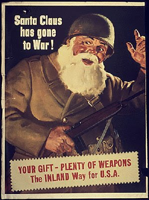 Santa Claus has gone to war! Your gift: plenty of weapons