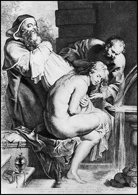 Susana e os velhos - Rubens