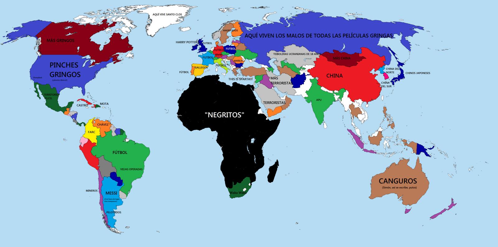 Mapa Mundi Mexico