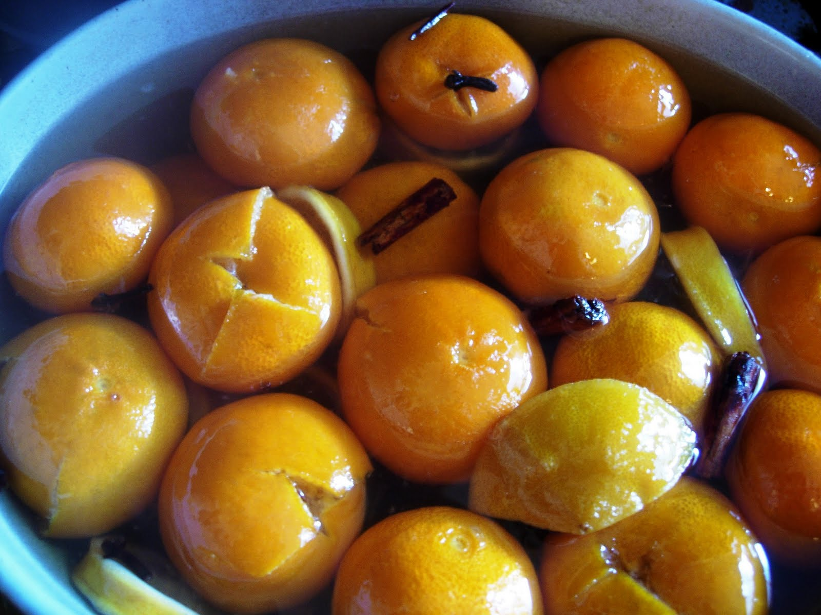 ... foodie things #2 - Preserved Clementines in a spiced ginger syrup