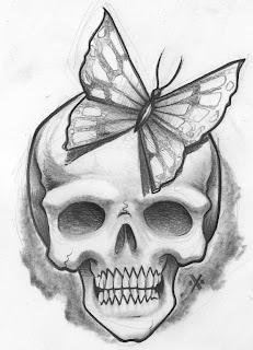 tatouage planete tete de mort