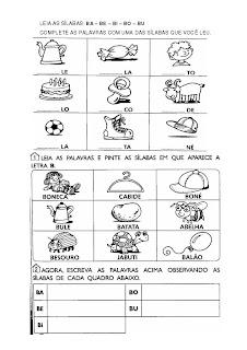 Atividade+letra+B ATIVIDADES 2 ANO para crianças