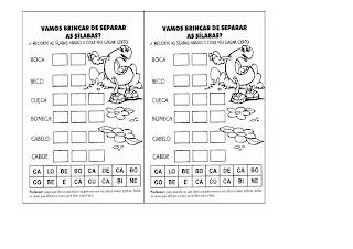 SEPARAR+SILABAS+CA+CO+CU ATIVIDADES COM A LETRA C para crianças