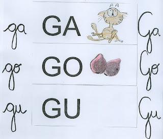 GA GO GU ALFABETO SILÁBICO para crianças