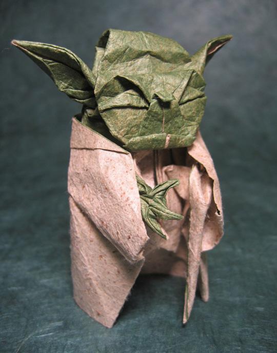 Super cool Yoda origami