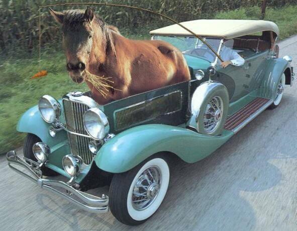 One horse-power engine car fail