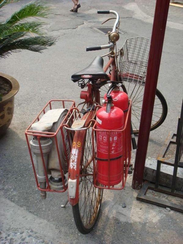 Fireman bike fail