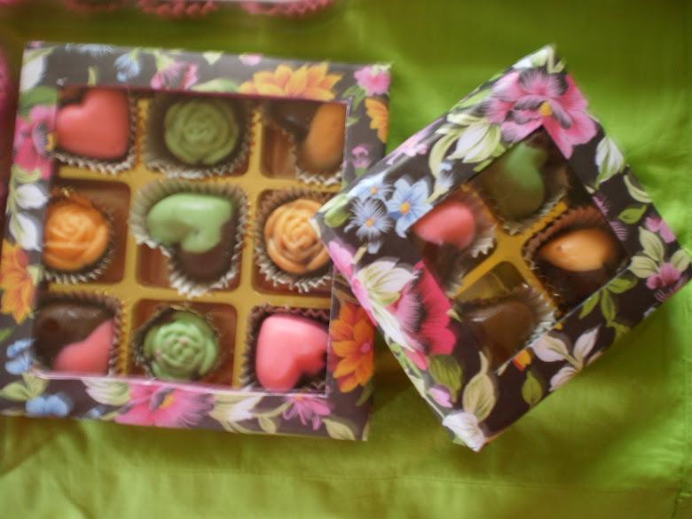 pelbagai bentuk choklat