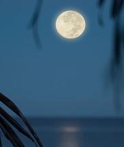 Full Moon Setting over the Ocean