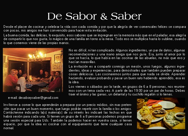 De Sabor & Saber