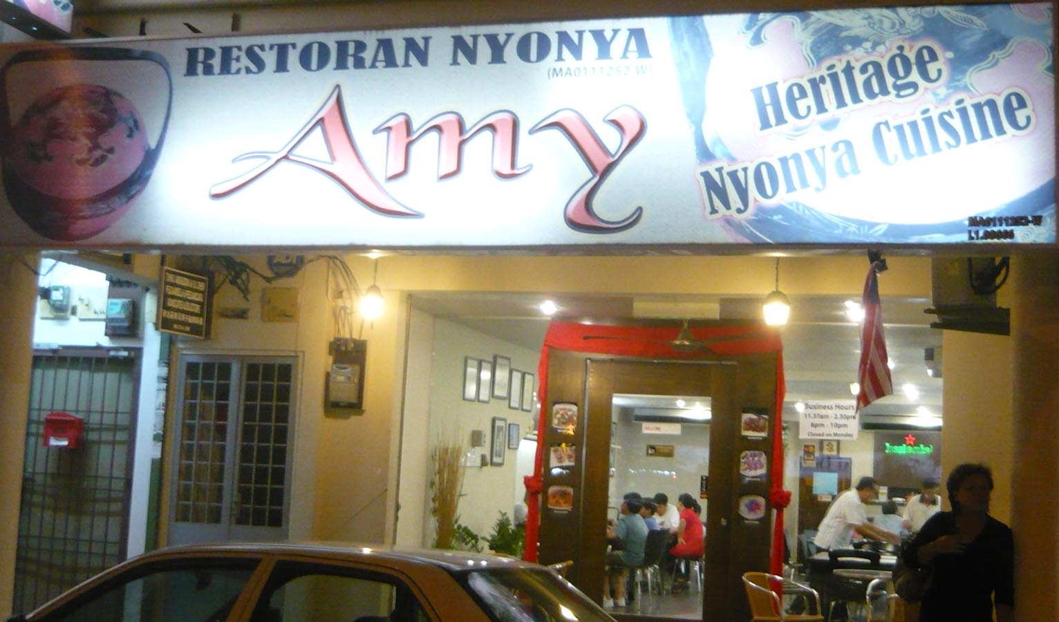 Holiday travel tips and experiences malaysia kuala lumpur for Amy heritage nyonya cuisine