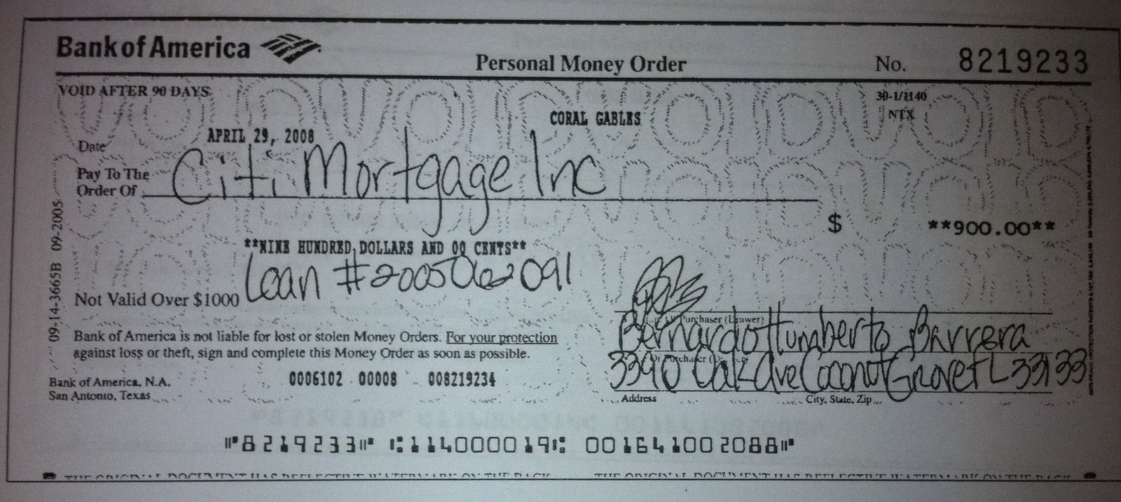 Those Three Checks Total $2,900 Which Just Happens To Be The Amount Of The  Mortgage Payment