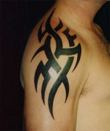 maori shoulder tattoo. Shoulder Tribal Tattoo Designs