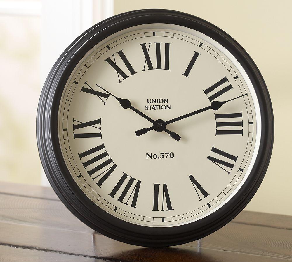 English Train Station Wall Clocks