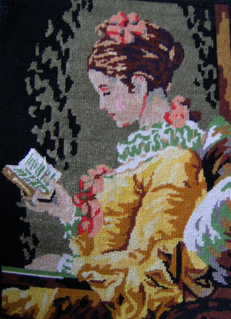 GOBLENI X208+Young+Girl+Reading+Gobelin+Art