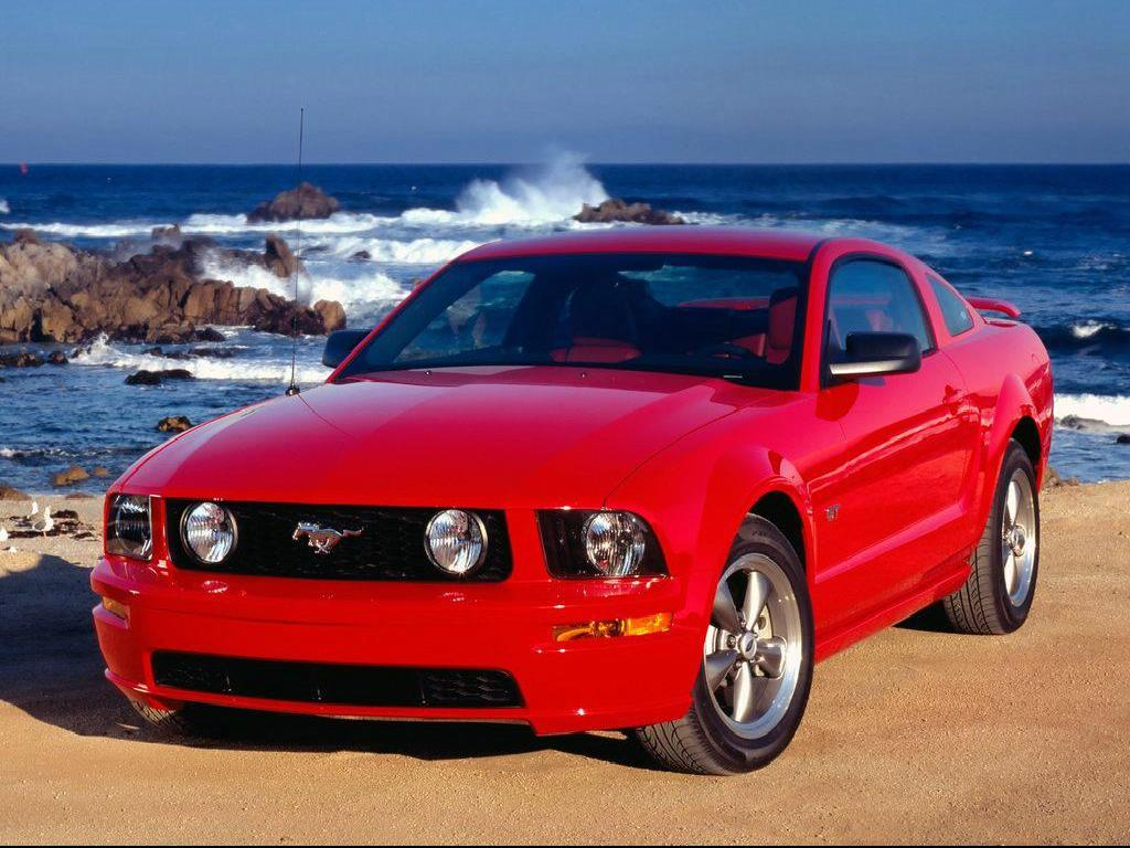 Mustang Car Red Ford Muscle 2010 1920x1080 Hd Wallpaper