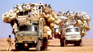 overload truck passenger