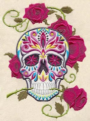 sugar skull embroidery from Urban Threads