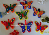 Adornos en fieltro, mariposas