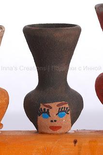 Hanukiah with jugs (detail)