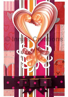 Quilled heart greeting card
