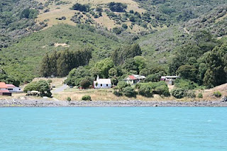 The Marae in Akaroa with one of the very earliest Angllican Churches