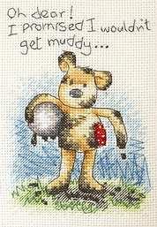 muddy teddy bear
