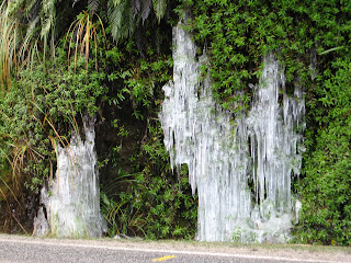 ice formation near Reefton