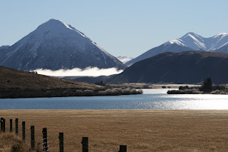 NZ Lake Pearson in winter