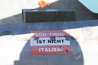 Tirol political sticker im kiwi land