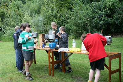 Outdoor kitchen for the scouts