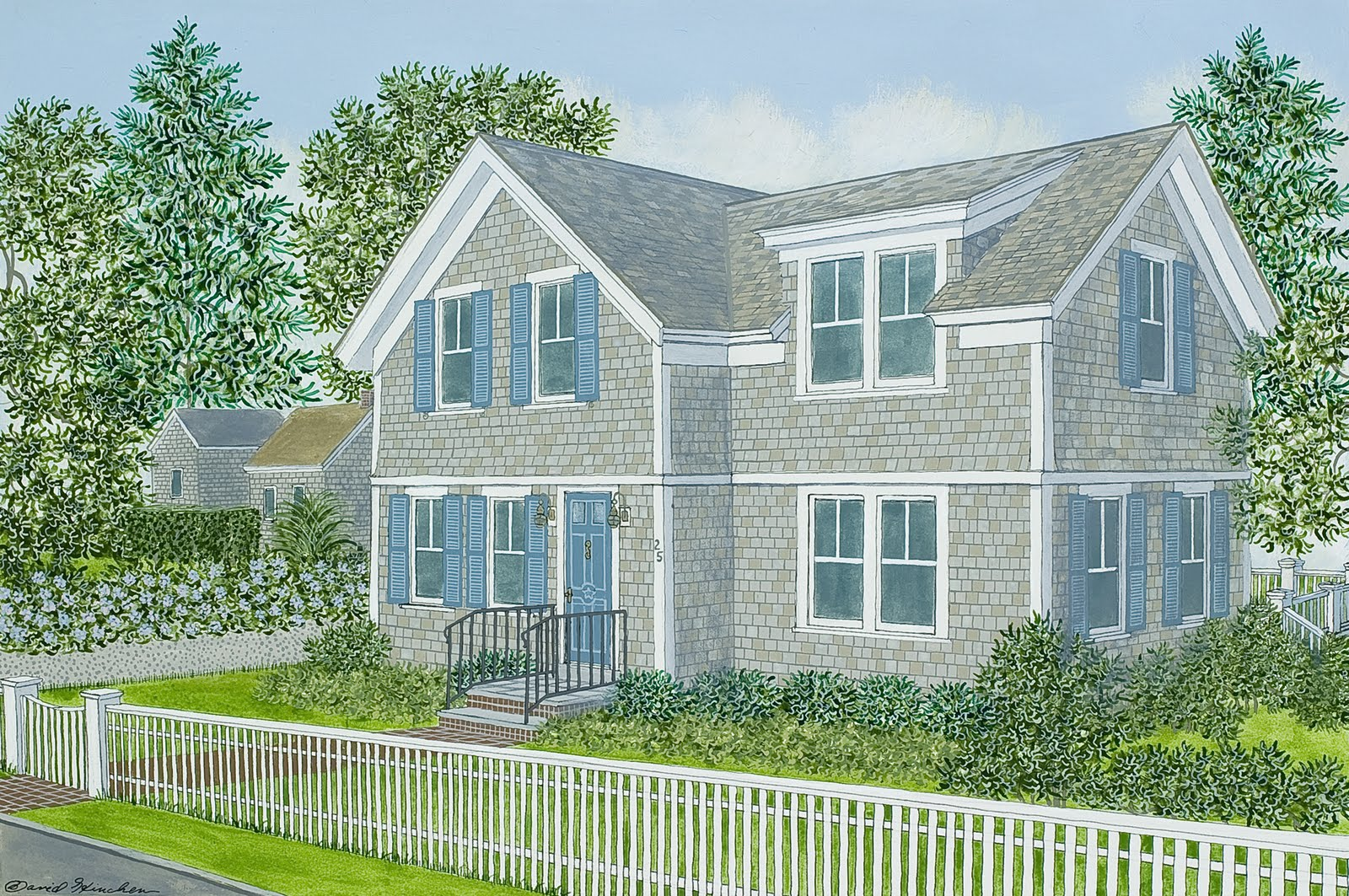 Portraits of house and home new house portraits chatham New homes cape cod