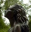 scultura busto donna terracotta