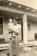 My late brother-in-law Murl Wages holding his son Wesley