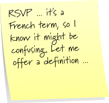 Post-It Note Tuesday ... RSVP