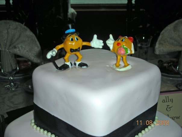 pick a cool wedding cake topper I found out he wasn 39t a fan of Smurfs