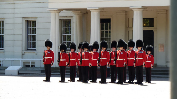 Royal Guards at attention