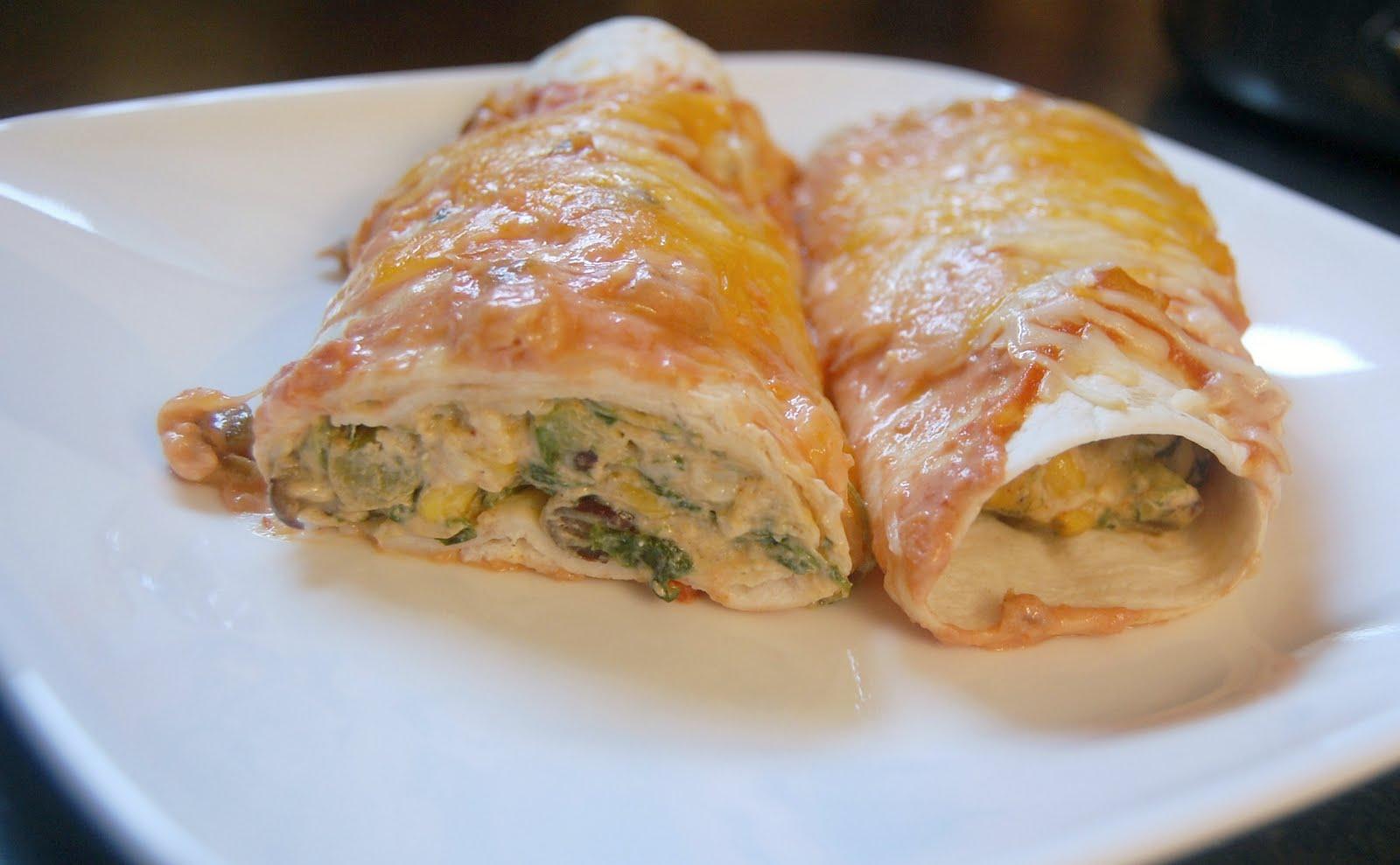 Cassie Craves: Creamy Vegetable Enchiladas