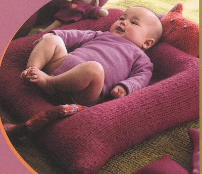 bebek yatağı (el örgüsü)