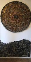 La parte inferior de la foto es una obra reciente con piedras de El Molle, Chile