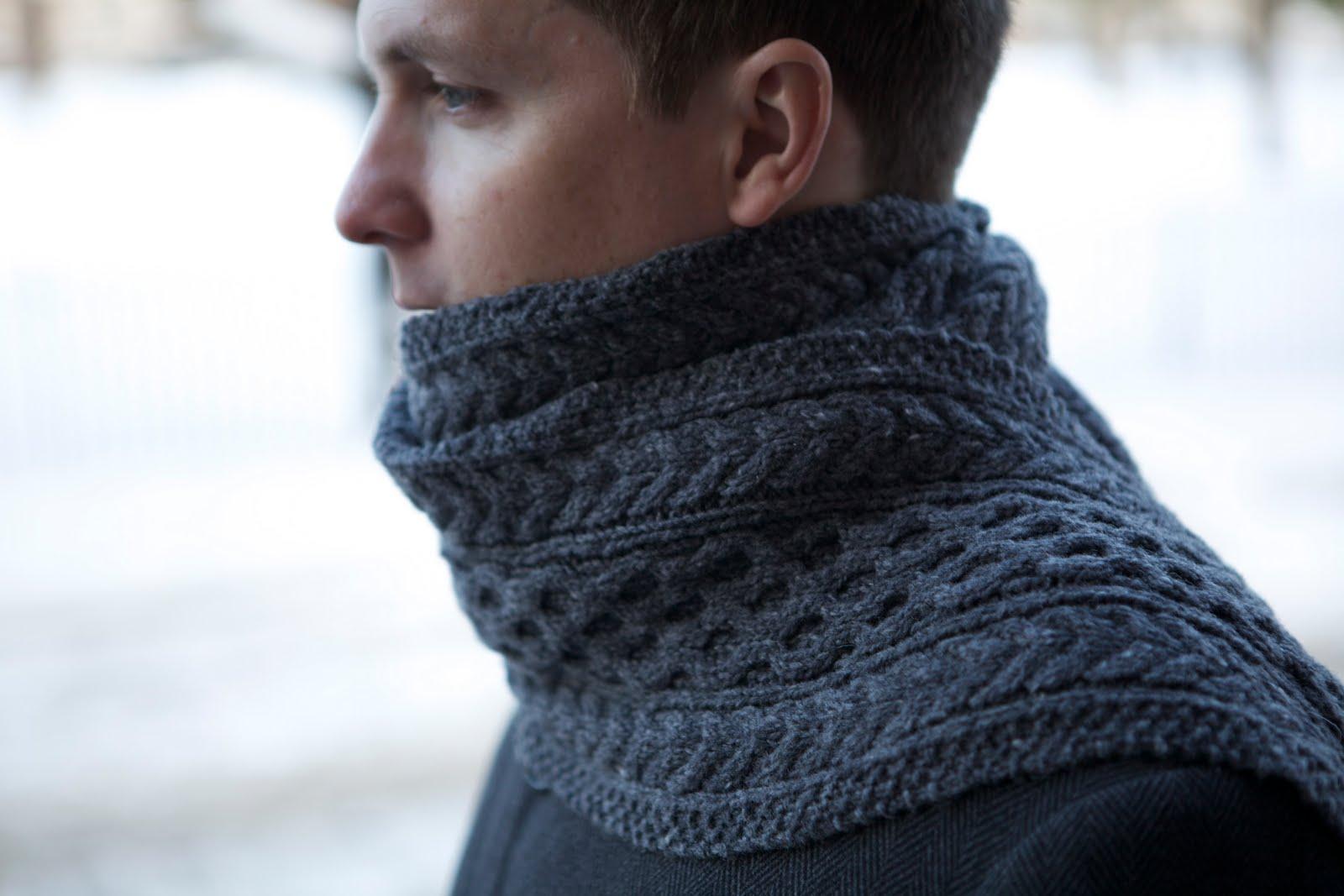 Knitting Pattern Aran Shawl : Posh Knits: FO: Aran Scarf