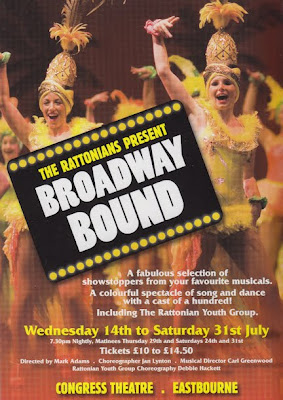 The Rattonians present Broadway Bound in July at The Congress Theatre Eastbourne
